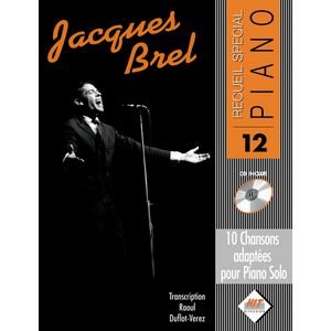 Jacques Brel - reccueil de partition piano