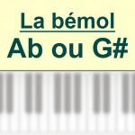 Accords piano, La bémol – A b ou G #