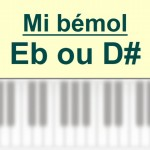 Accords piano, Mi bémol – E b ou D #
