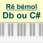 Accords piano, Ré bémol – D b ou C #