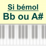 Accords piano, Si bémol – E b ou A #
