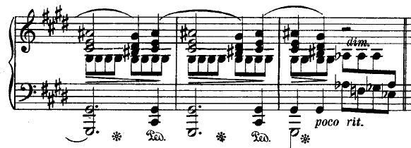 Extrait du prélude op. 24 n°15 de Chopin. L'intervalle Sol-La passe encore mais pas jusqu'au La#