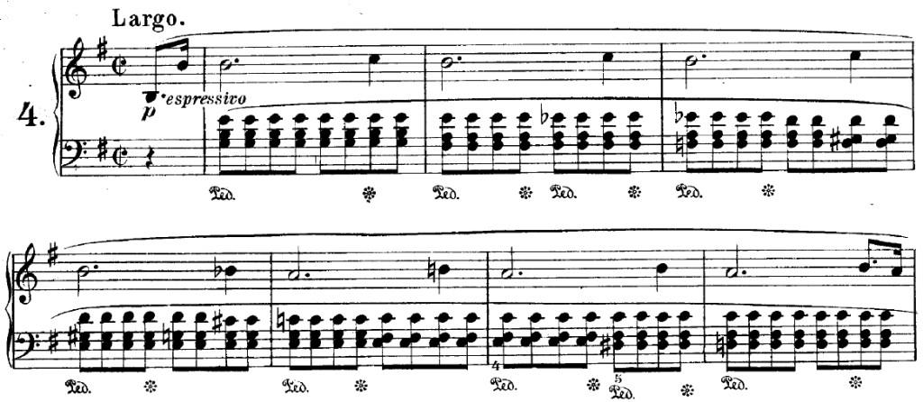 Prélude n°4 de Chopin - anticiper les changements d'accords (ici à la main droite)