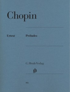 Edition Urtext des préludes de Chopin