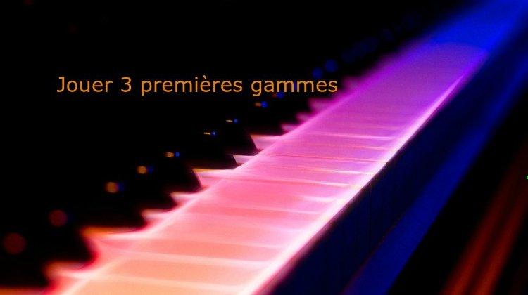 Trois premières gammes au piano – Gamme de Do, Si et Ré bémol majeur